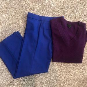 J. Crew Royal Blue Wool Pants